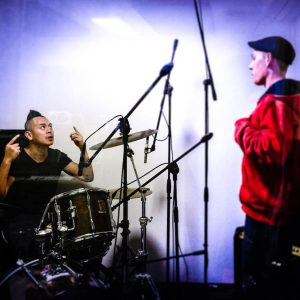 Recording drums on sound engineering diploma
